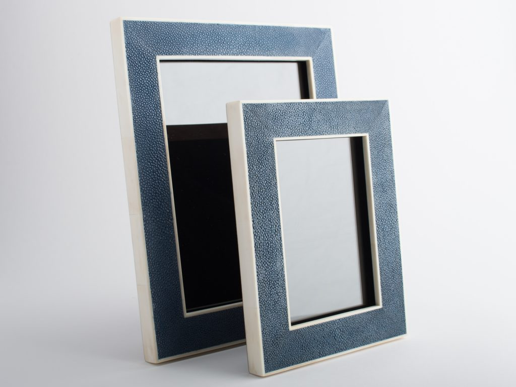 luxury gifts for home - shagreen photo frame