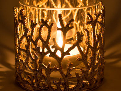 Objet Luxe Luxury Candle Holders and Luxury Votives - Reef Candle Holder