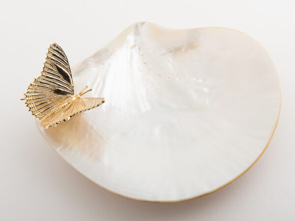 Mother of Pearl Plate Butterflies from Objet Luxe