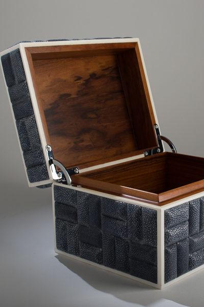 Objet Luxe Luxury Shagreen Zelda Box Open